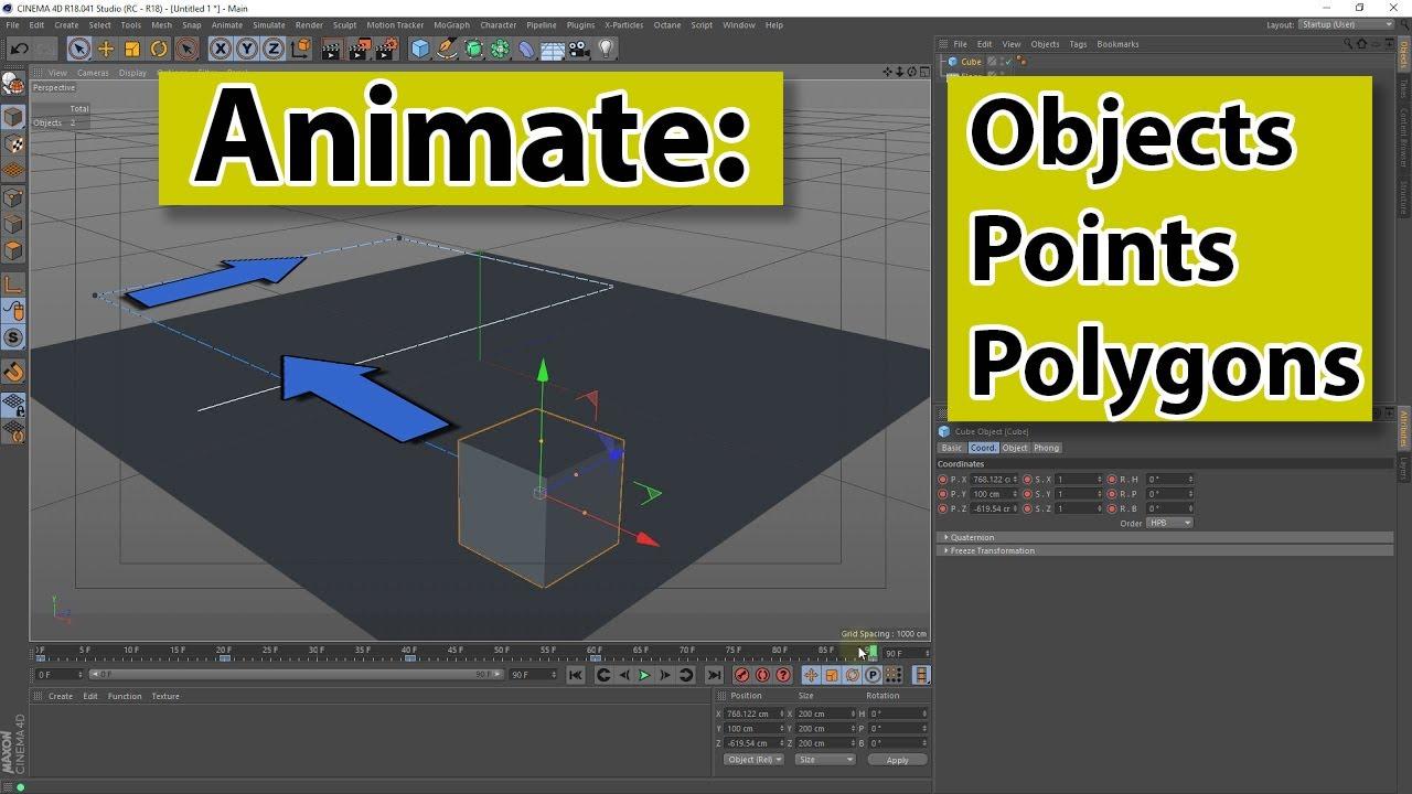 Create a simple animation with CINEMA 4D - C4D4U