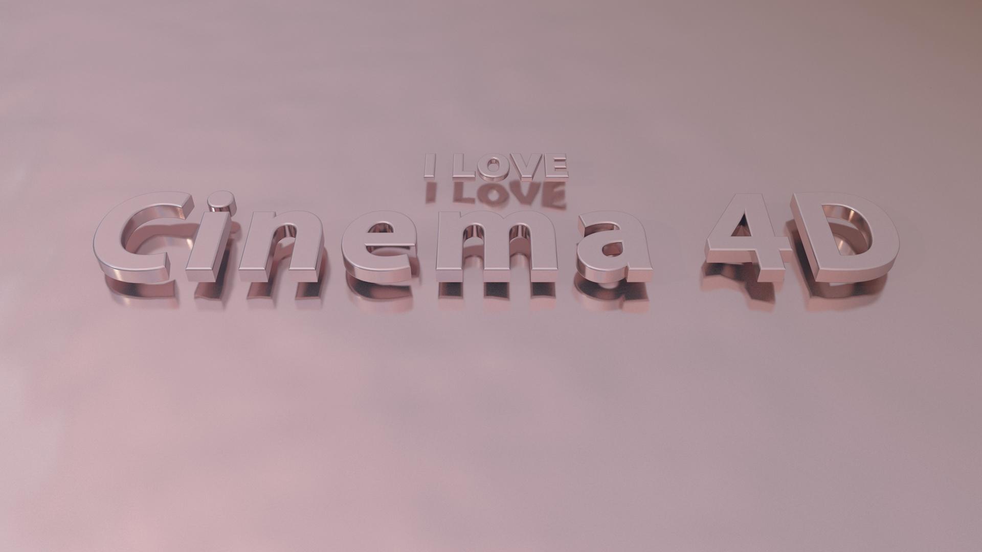 I love Cinema 4D (Cinema 4D Wallpaper) #2 - C4D4U
