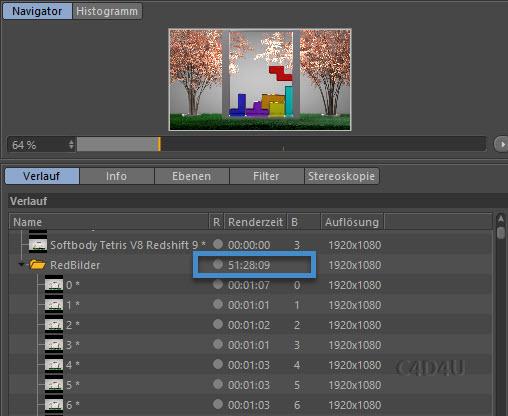 Softbody Tetris V8 Rendertime