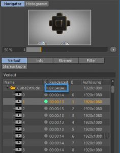 Rendertime Cube Extrude Test