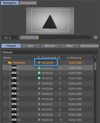 Rendertime Pyramide